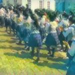 京都橘高校吹奏学部|オレンジの悪魔 ブルーメの丘パレード2016年