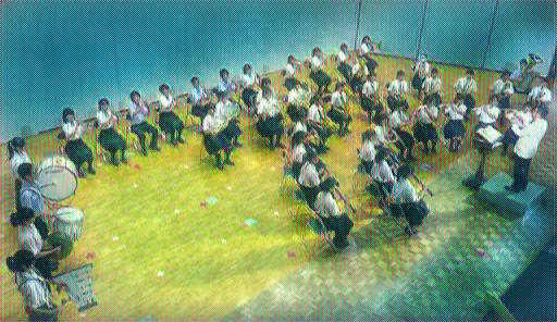 2016年に行われた京都橘吹奏楽部の1年生の演奏